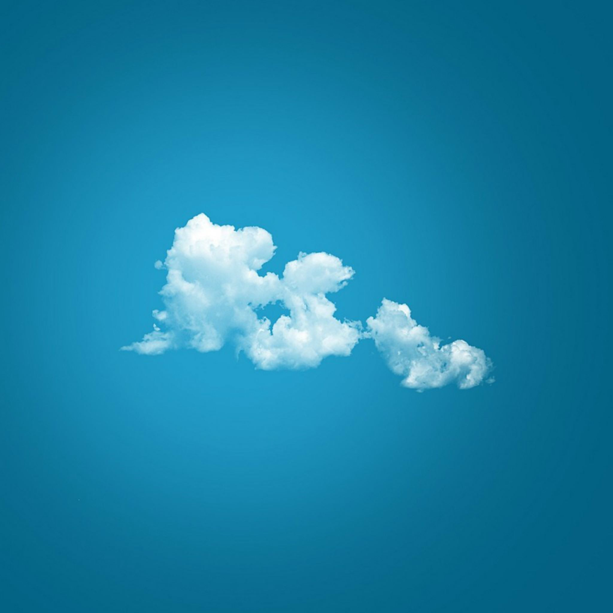 Fluffy Cloud on Blue Sky iPad Air wallpaper