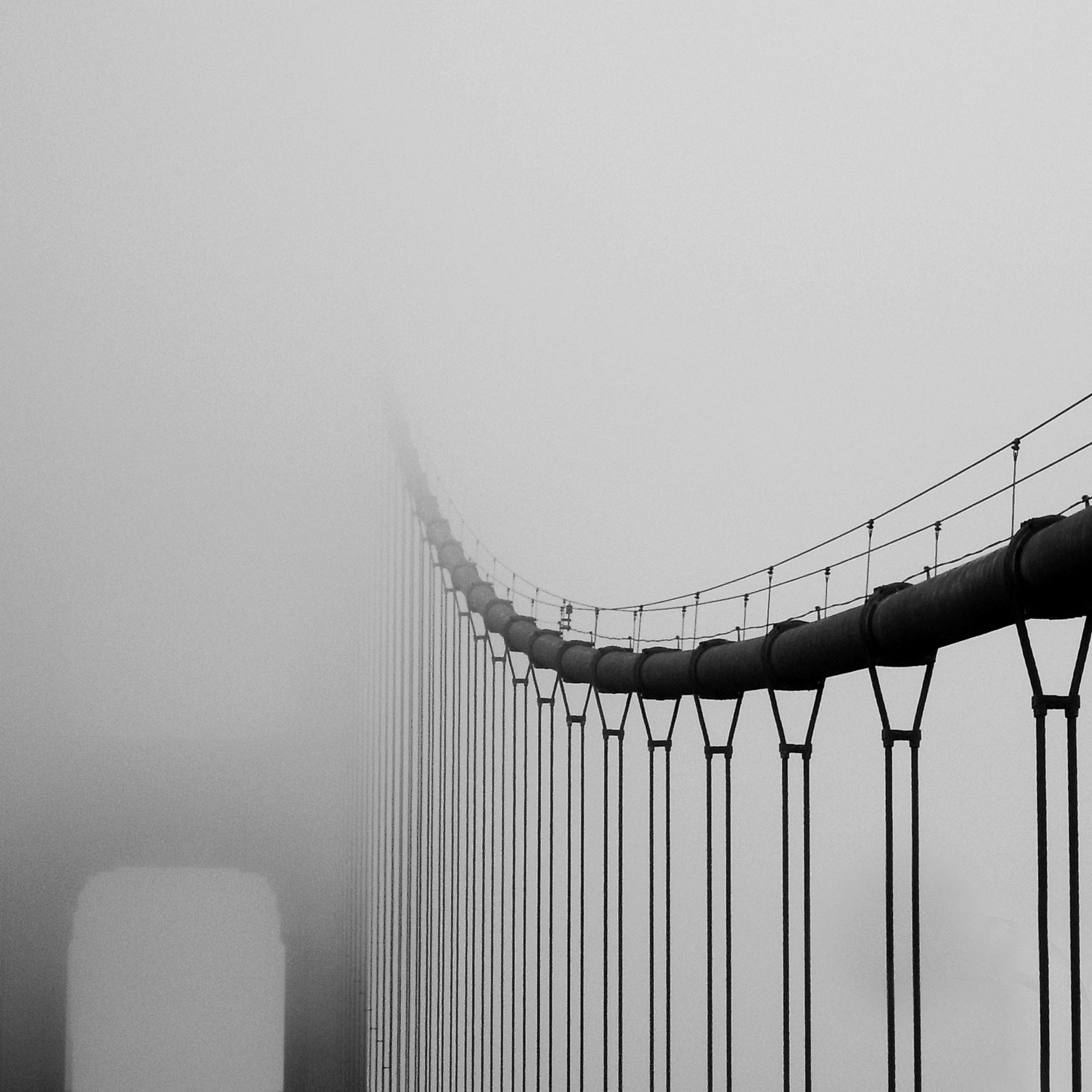 Foggy Bridge Landscape iPad Air wallpaper