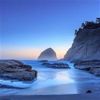Haystack Rock In Pacific City iPad wallpaper