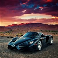 Super Sports Car Ferrari Enzo iPad Air wallpaper
