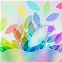 Apple Logo Colorful leaves Gradation Art iPad Air wallpaper