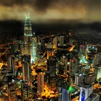 Stuck In Customs Kuala Lumpur Night iPad wallpaper
