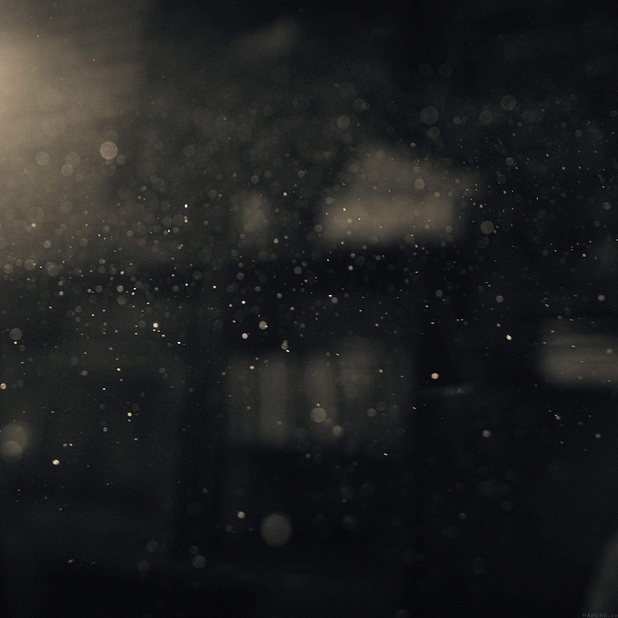 Dark Bubble Bokeh Rain Drops Art iPad Air wallpaper