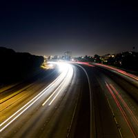 The Blinker Traffic Road Night iPad Air wallpaper