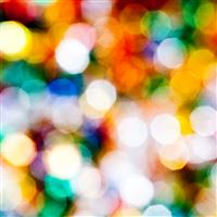 Colorful Circle Bokeh Light Pattern iPad wallpaper