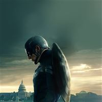 Captain America Sad Hero Film Marvel iPad Air wallpaper