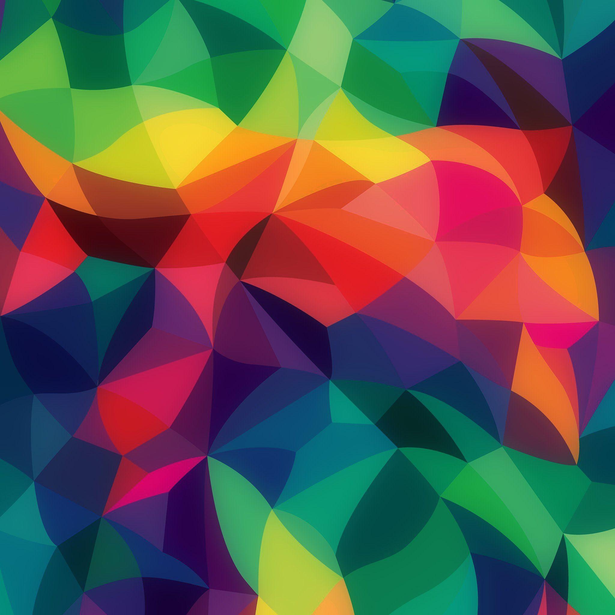 Rainbow Abstract Colors Pastel Dark Pattern Ipad Air
