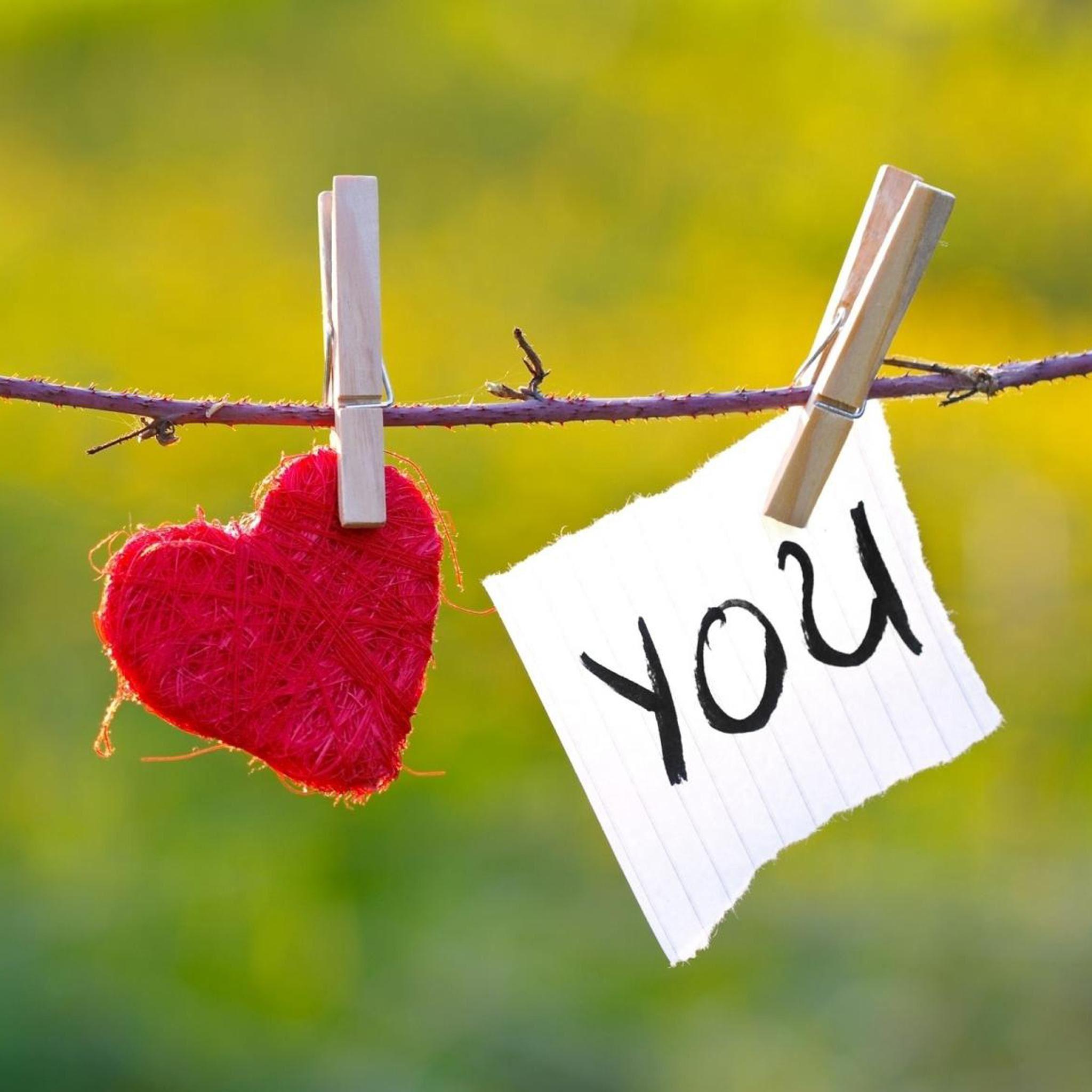 Love You Clothes Clip Ipad Air Wallpaper Download Iphone