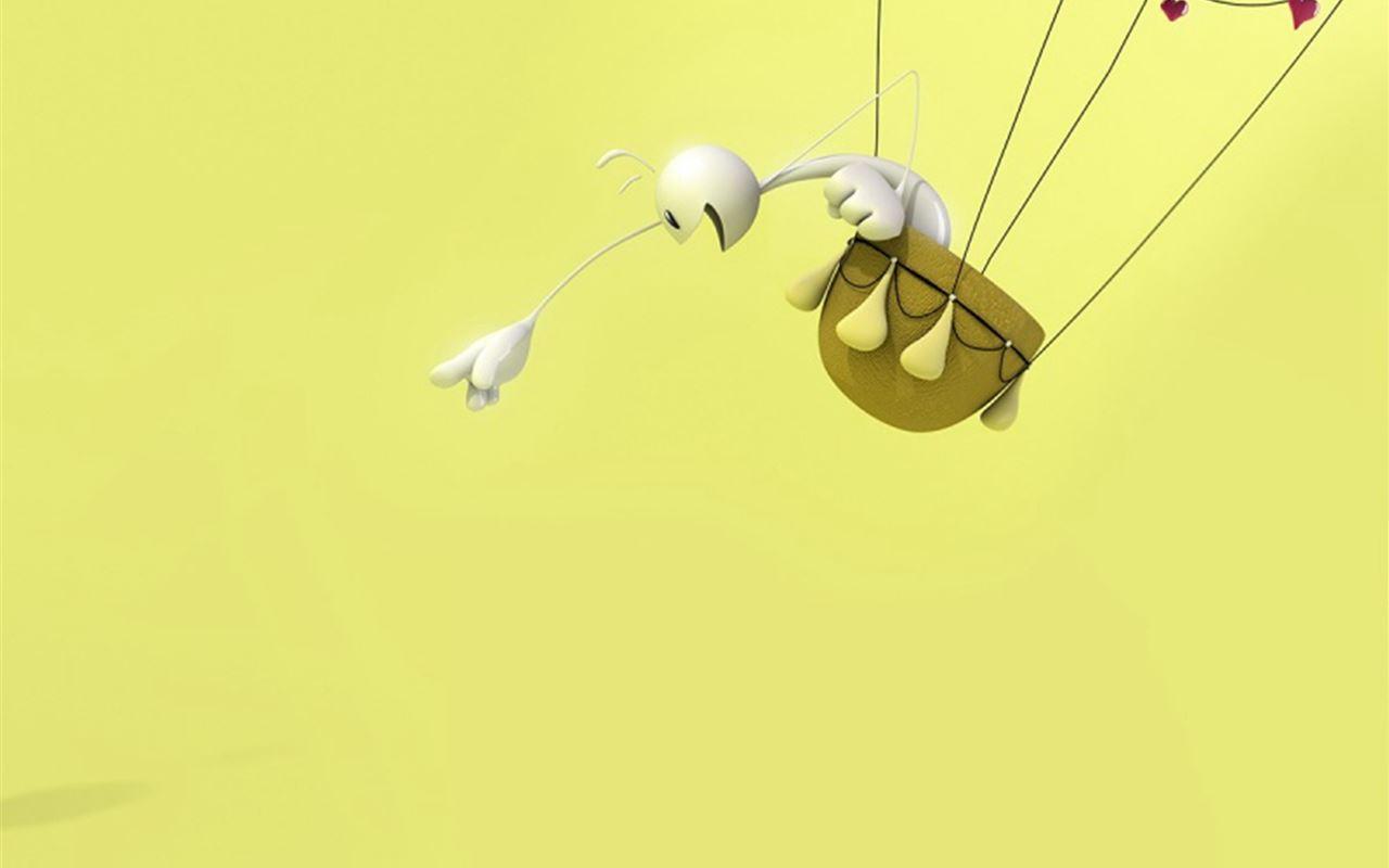 3D Balloon Ride Funny Cp Cartoon Funny Design ipad air wallpaper ilikewallpaper com