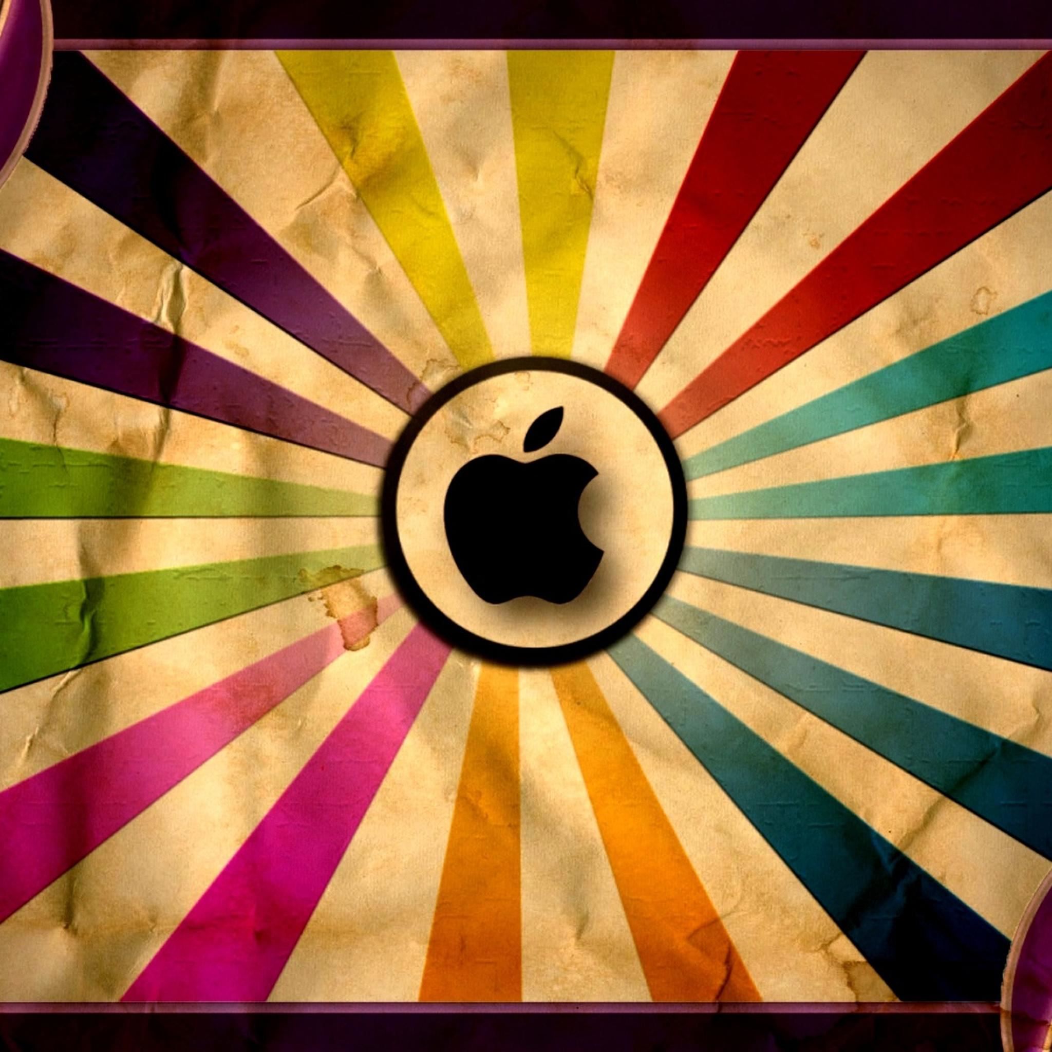 Old Logo Colorful Shine Pattern iPad Air wallpaper