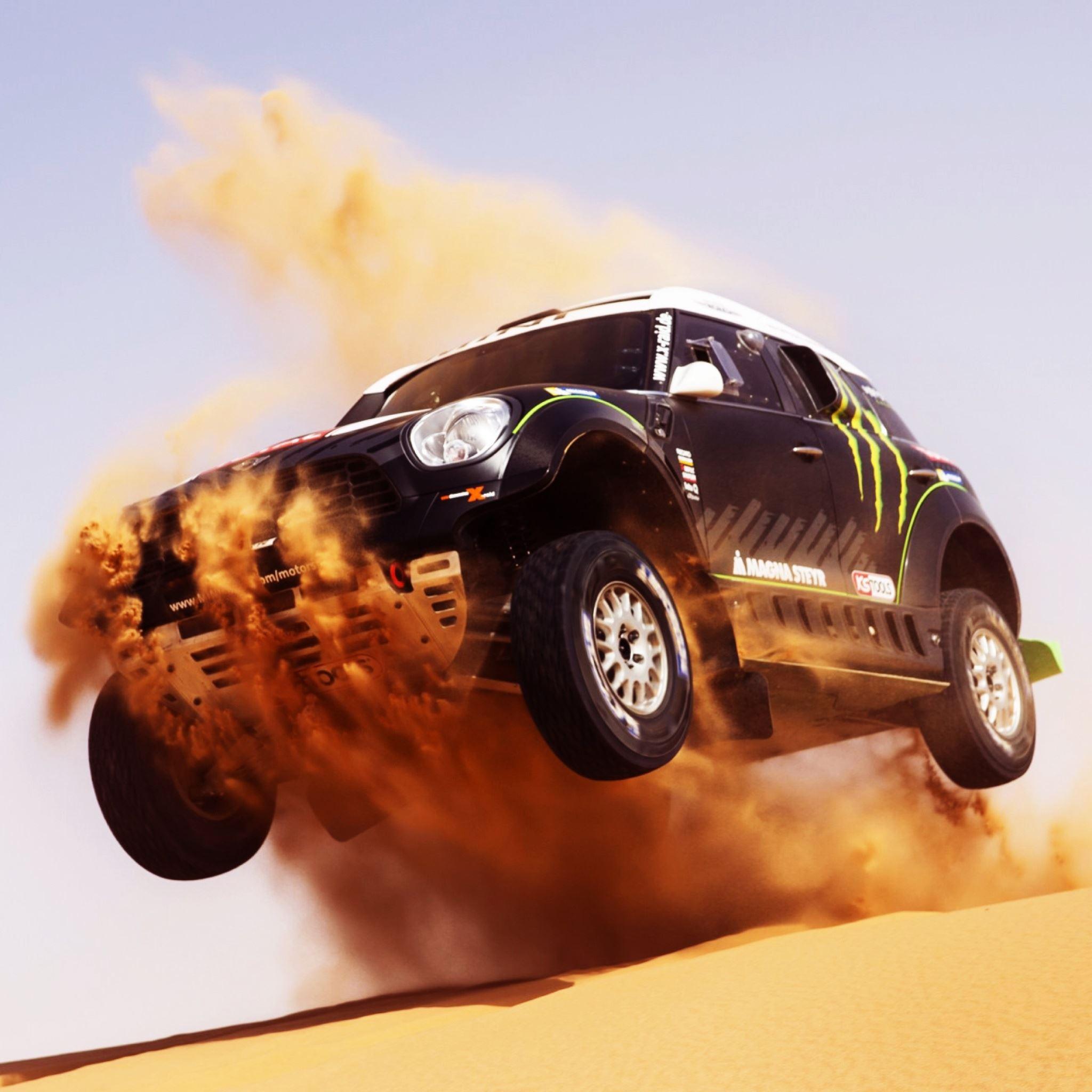 Mini Cooper Car Cross Desert Ipad Air Wallpapers Free Download