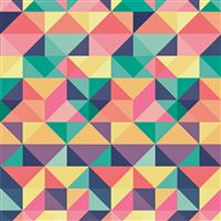 Abstract Polygon Art Pattern Rainbow iPad Air wallpaper
