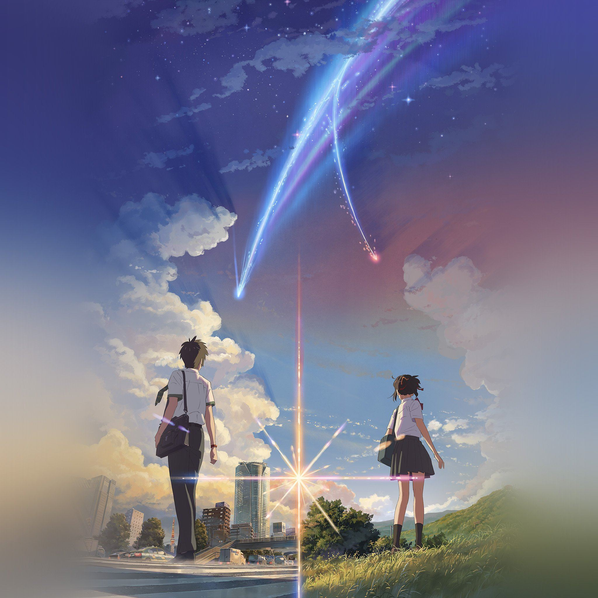 ... Boy And Girl Anime Art Spring Cute iPad Air wallpaper.