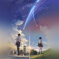 Boy And Girl Anime Art Spring Cute iPad Air wallpaper