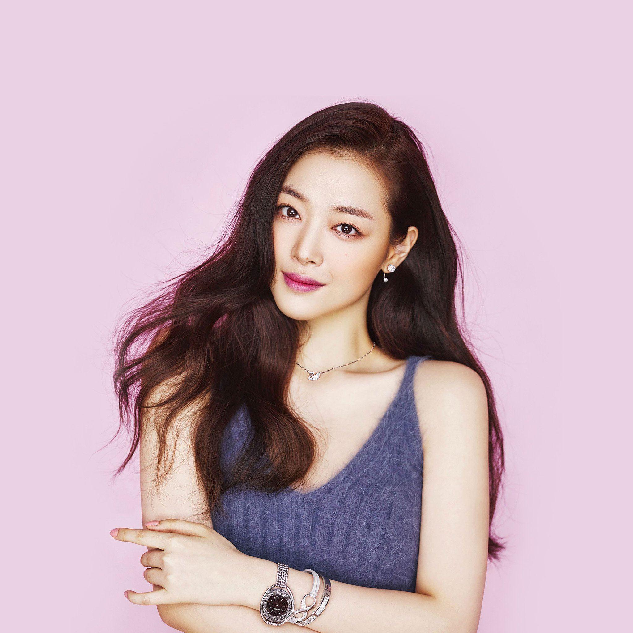Sulli Kpop Pink Cute Girl Asian Ipad Air Wallpapers Free