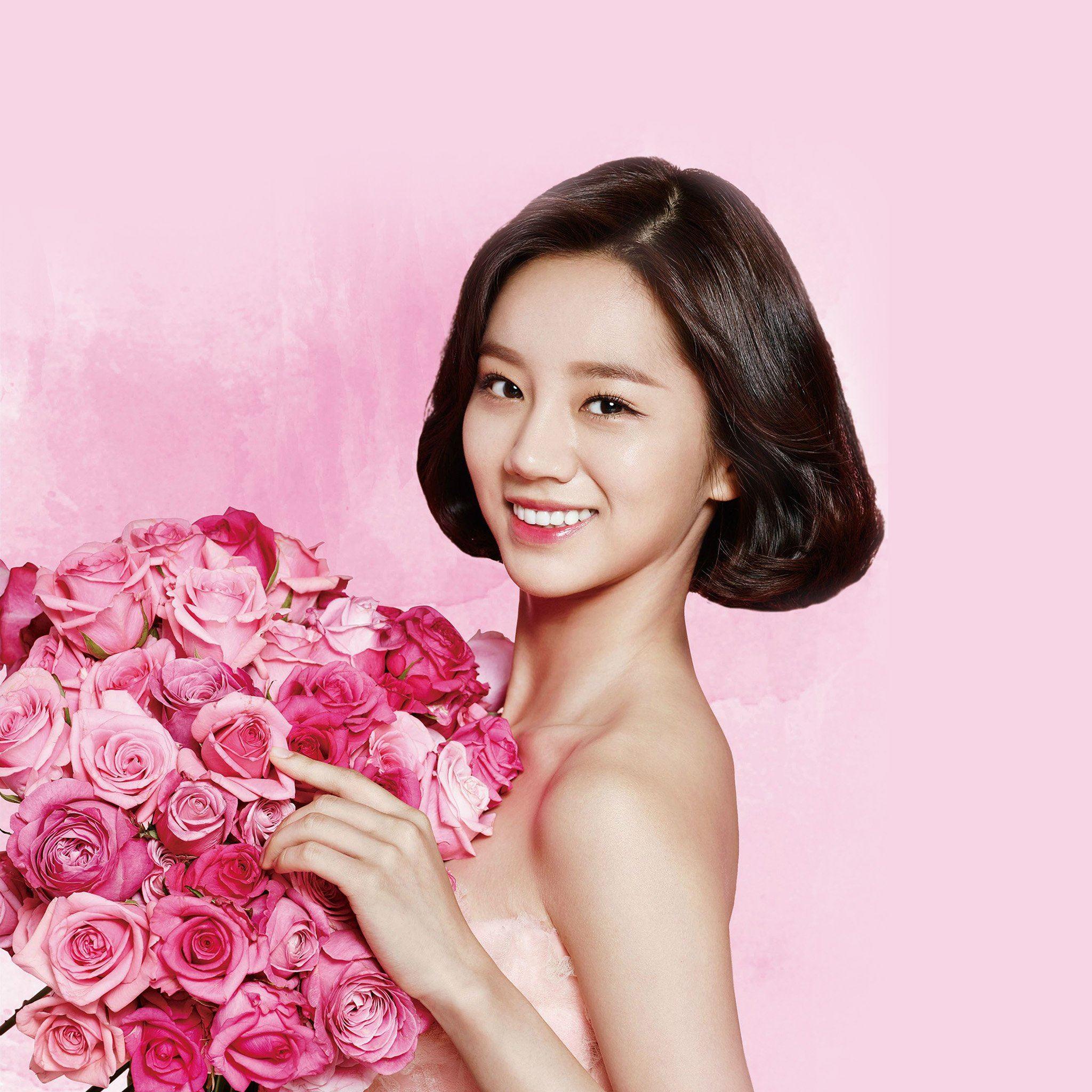 Flower Hyeri Cute Pink Kpop Girl Ipad Air Wallpapers Free