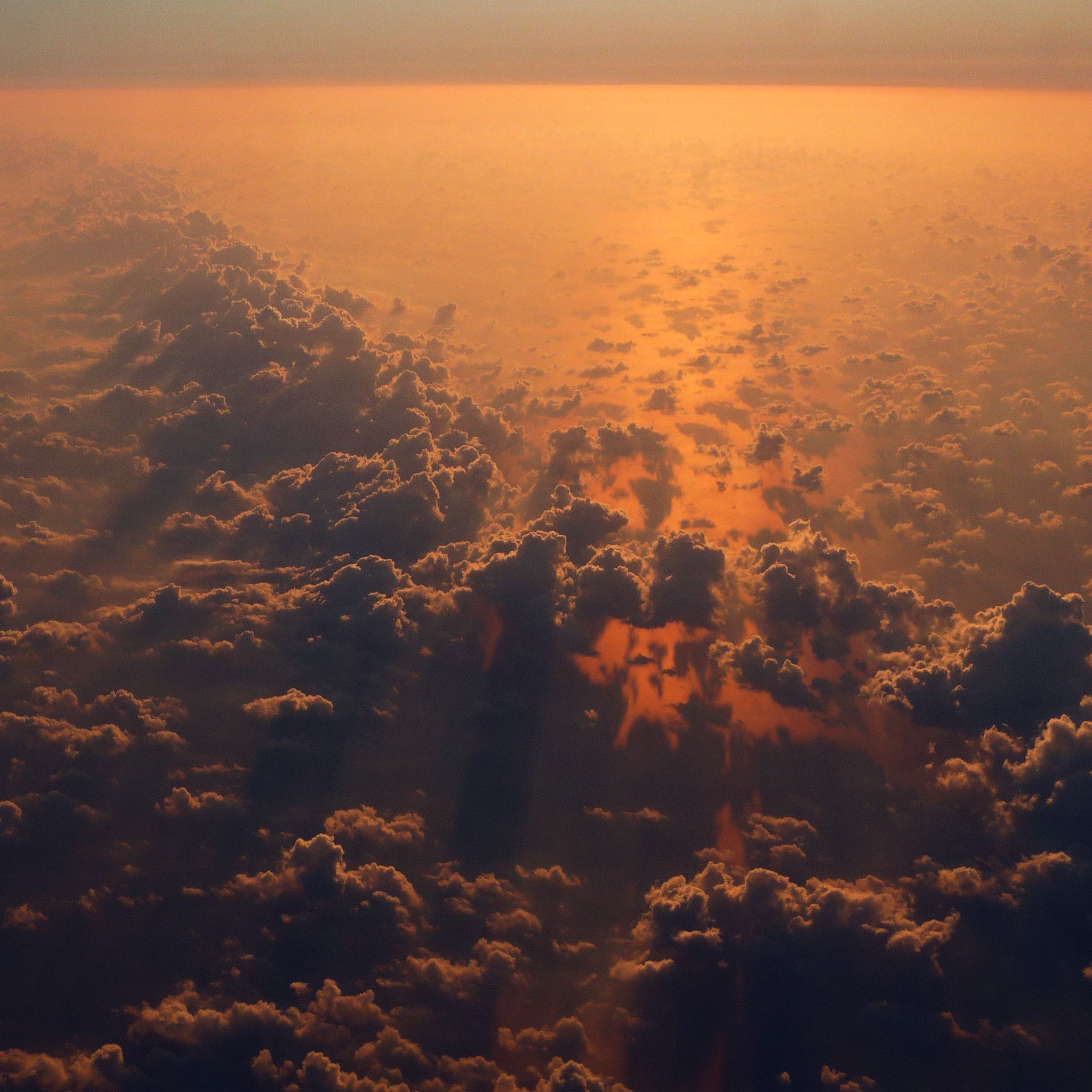 Cloud Nine Sky Fly Sunset Red Nature iPad Air wallpaper