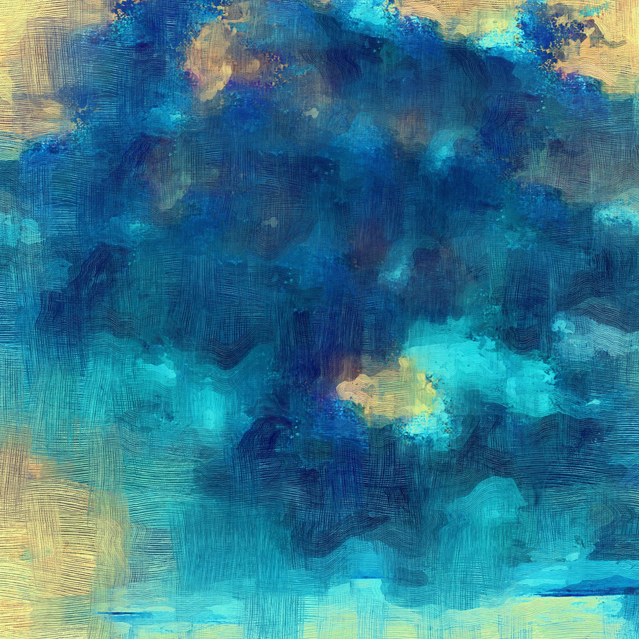 Samsung Galaxy Blue Texture Art Oil Painting Pattern iPad Air wallpaper