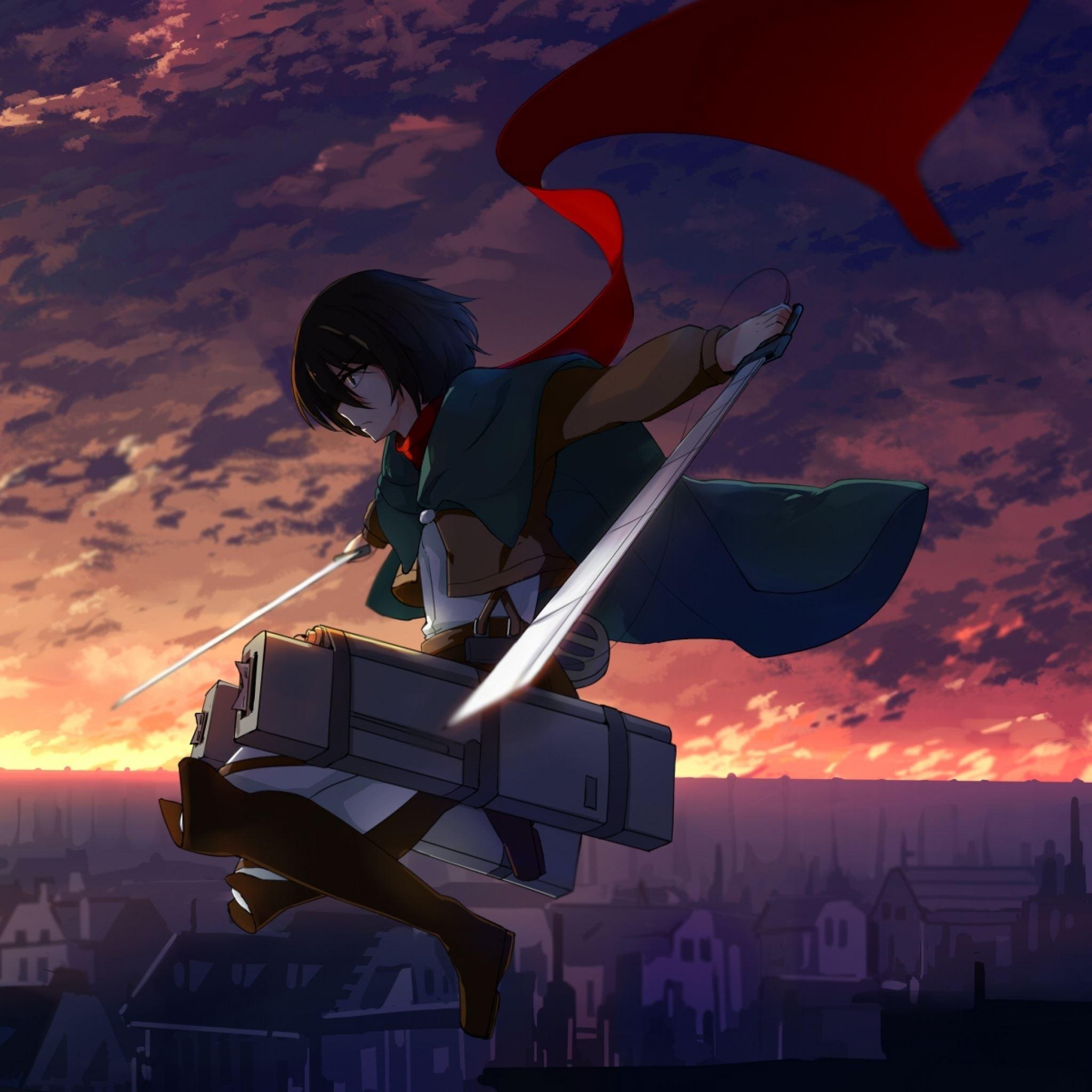 Anime Shingeki No Kyojin Mikasa Ackerman Ipad Air Wallpapers Free Download