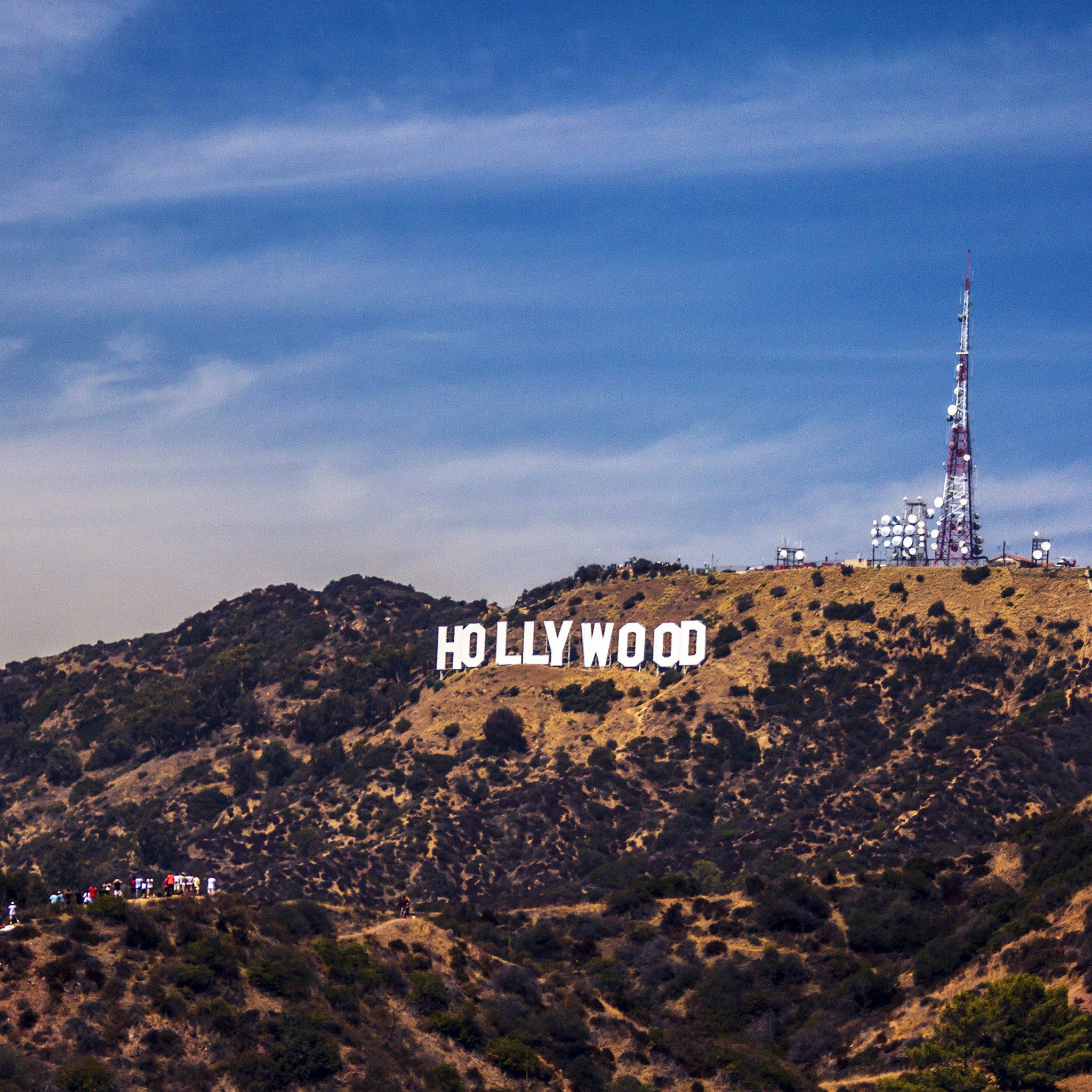 Hollywood Sign La America Sky Mountain Ipad Air Wallpapers Free Download