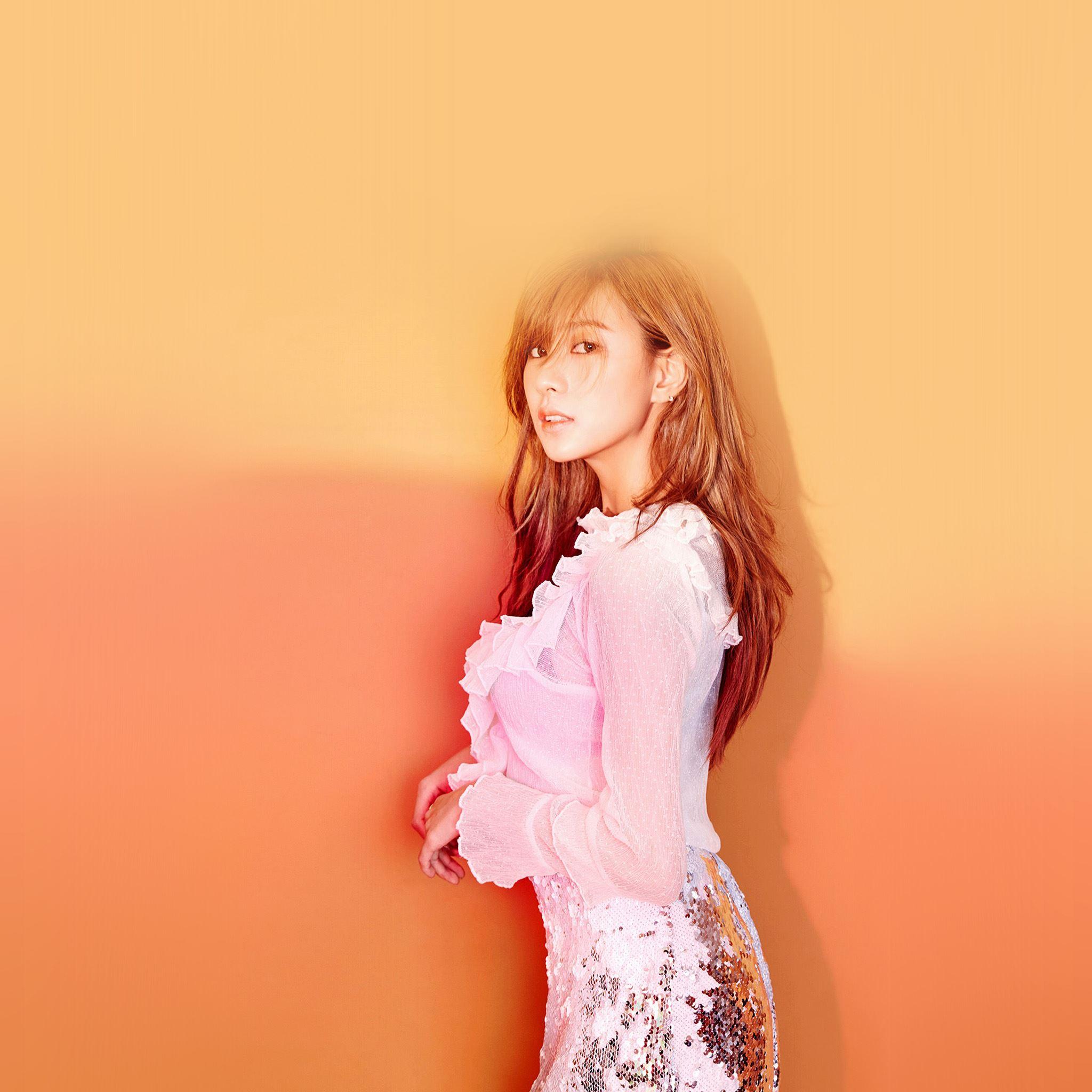 Kpop Girl Apink Hayoung Orange Red Ipad Air Wallpapers Free