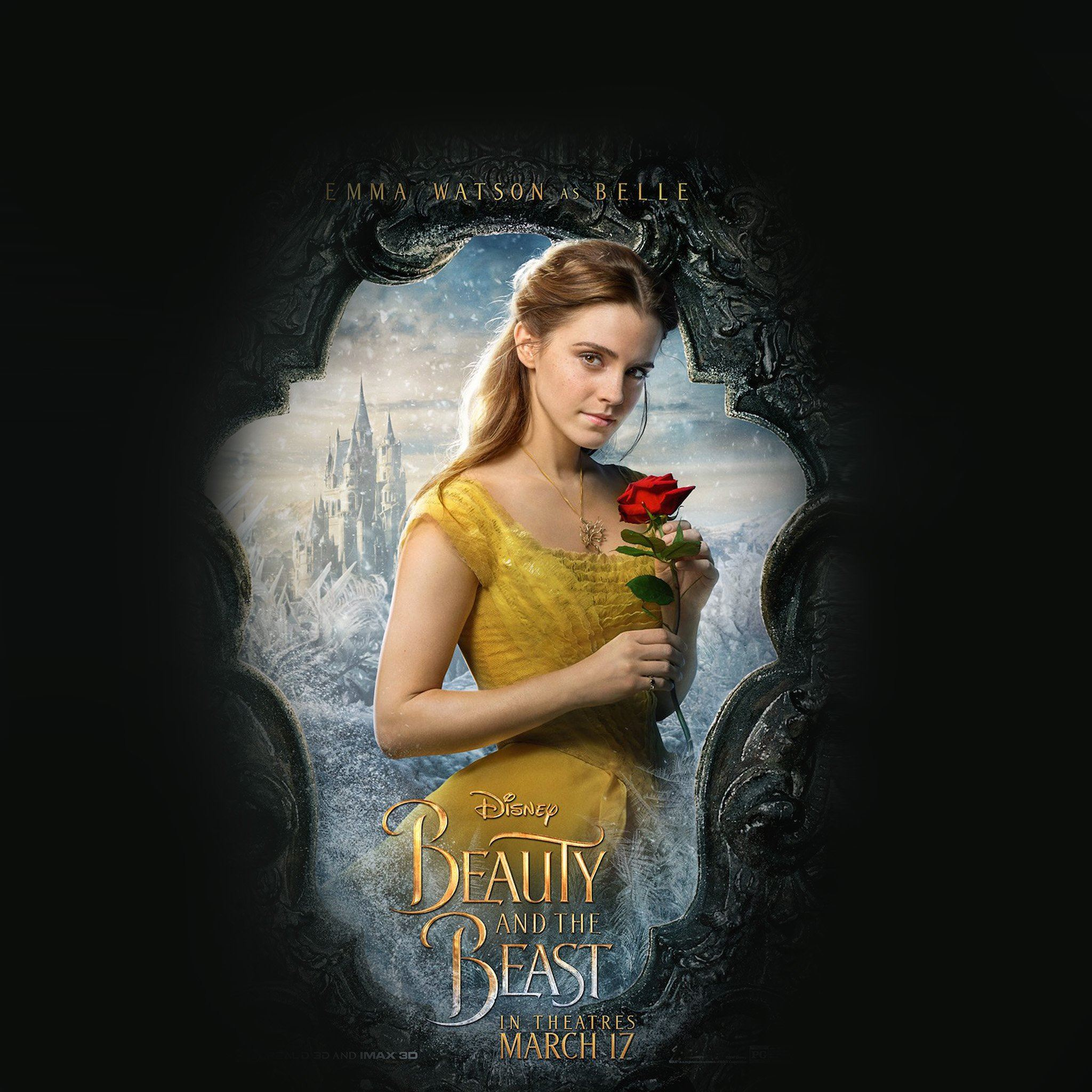 Beauty Beast Poster Disney Illustration Art Ipad Air Wallpapers