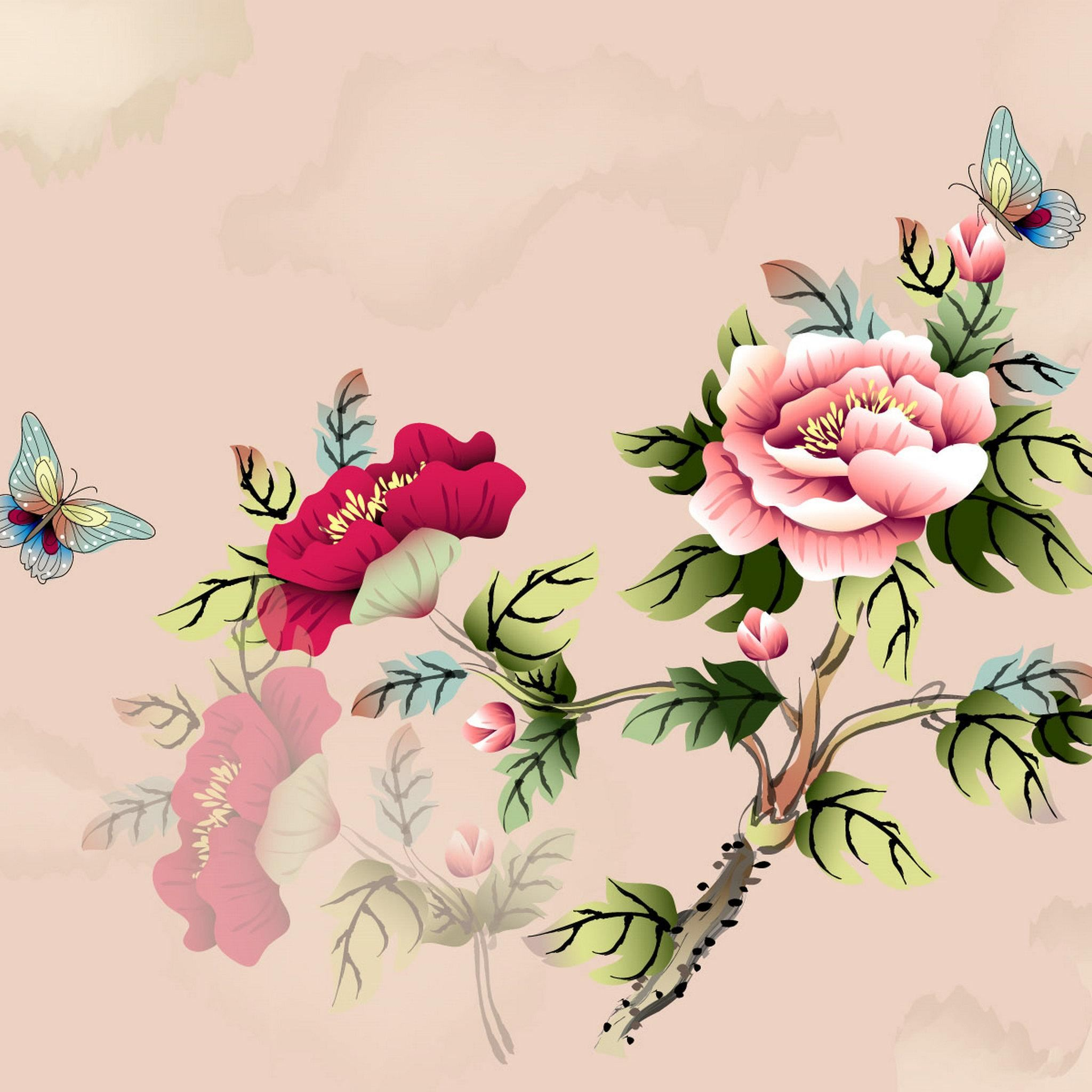 Vintage Floral Pattern Background Ipad Air Wallpapers Free Download