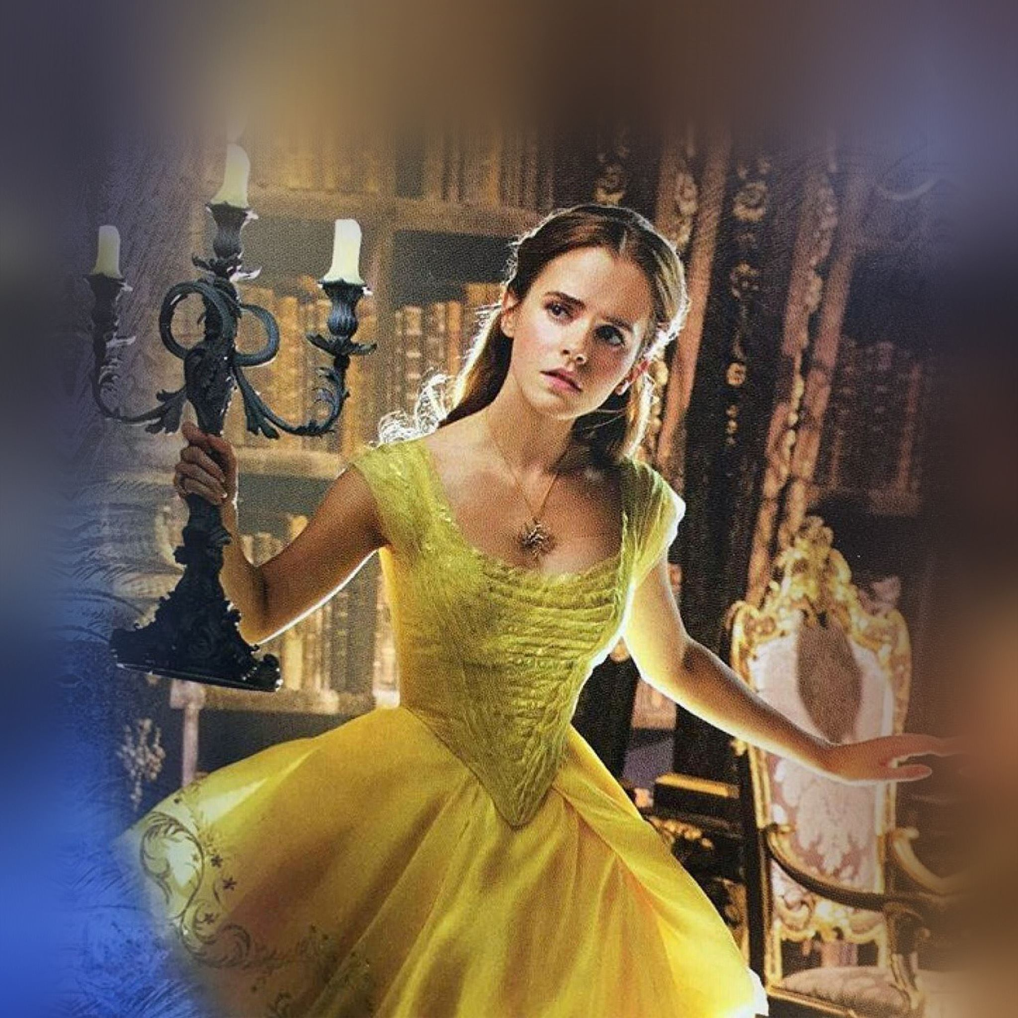 Beauty And The Beast Emma Watson Dress Role Poster Ipad Air