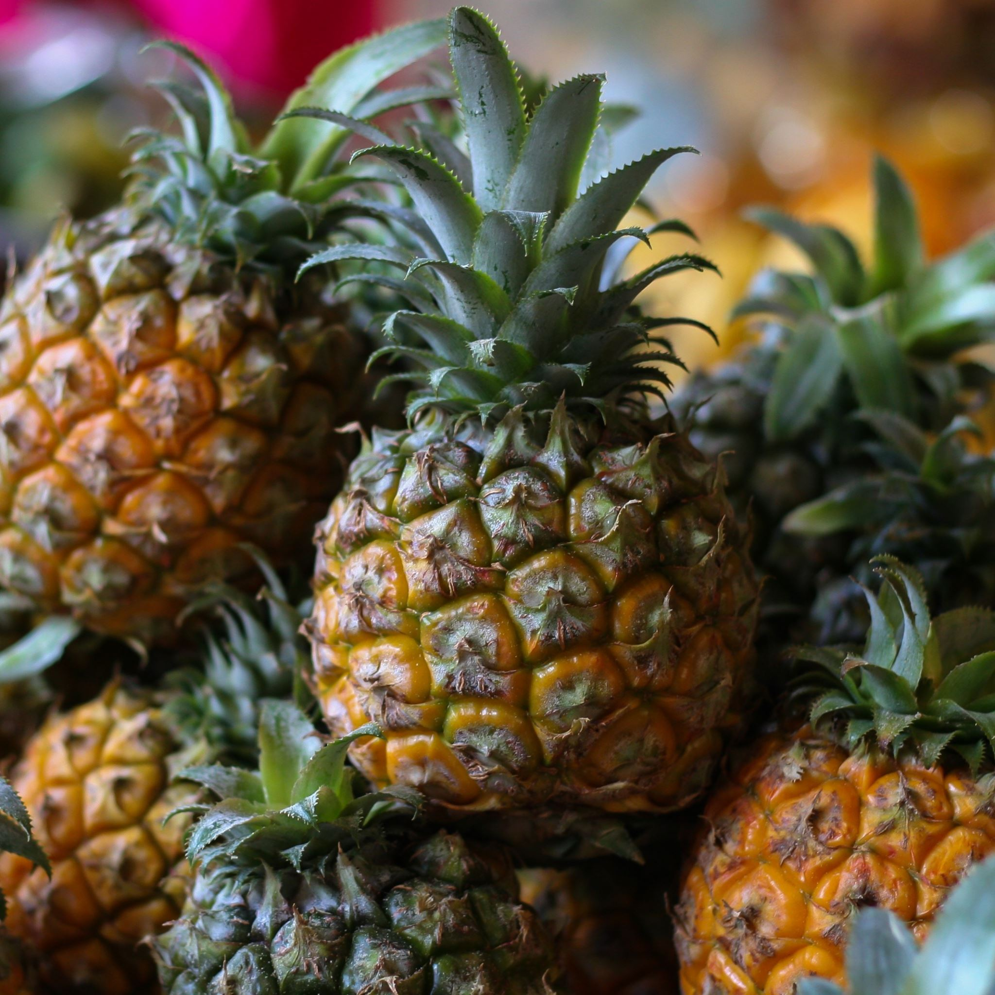 Pineapple Fruit Market iPad Air wallpaper