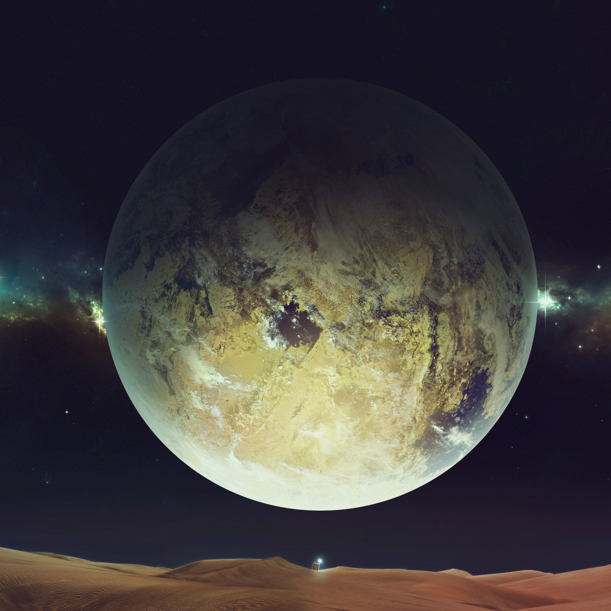 Space Planet Sky Fantasy Landscape iPad Air wallpaper