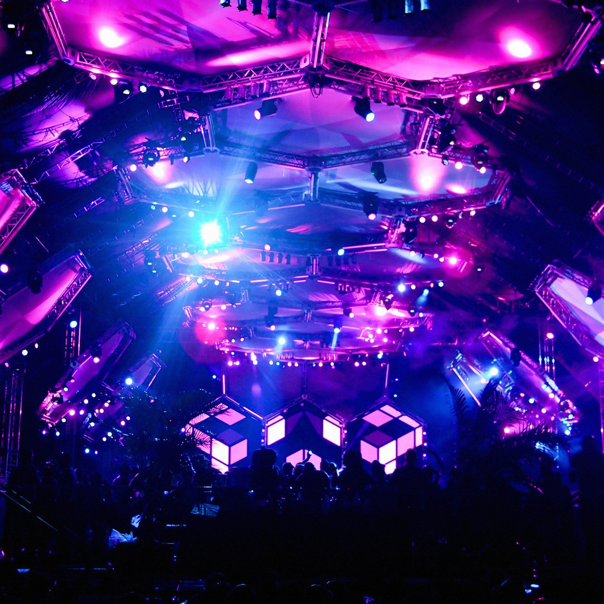 Ultra Music Fest Lively Crowd Concept iPad Air wallpaper