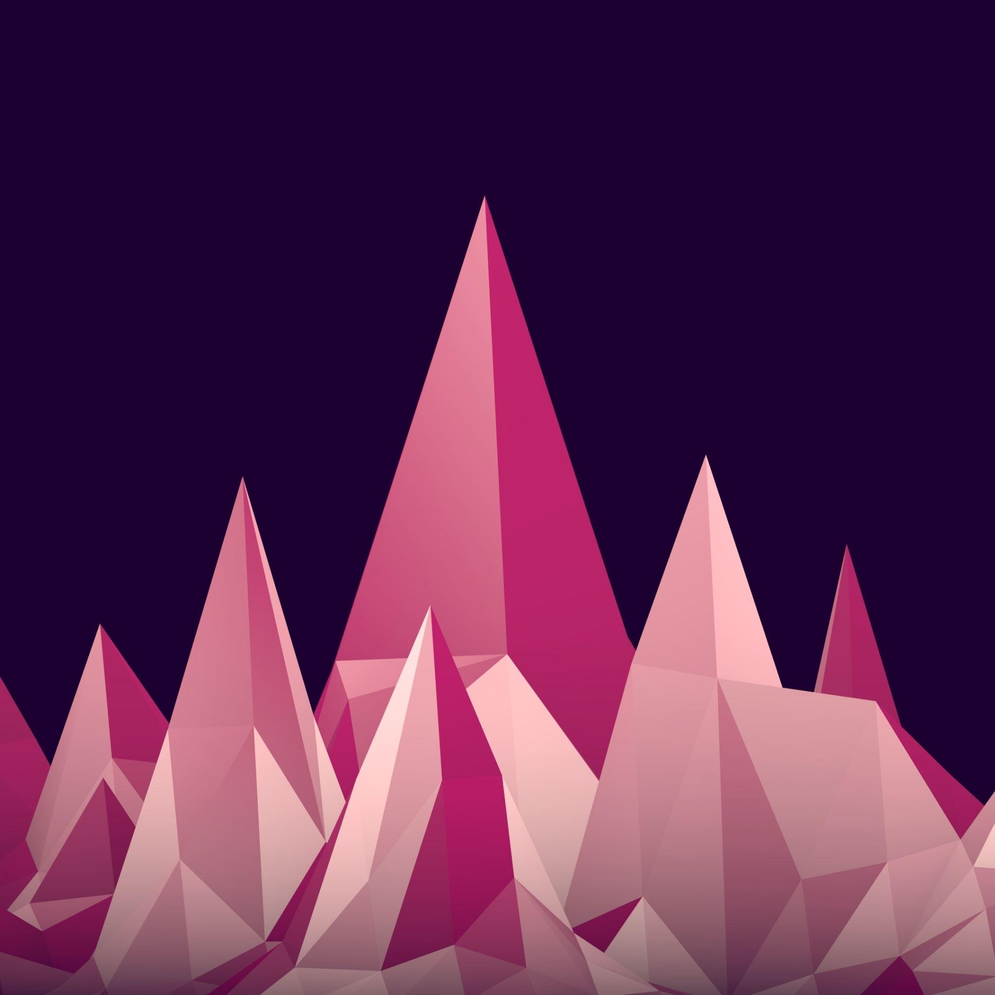 Graphics Low Poly Digital Art Minimalism Ipad Air Wallpapers