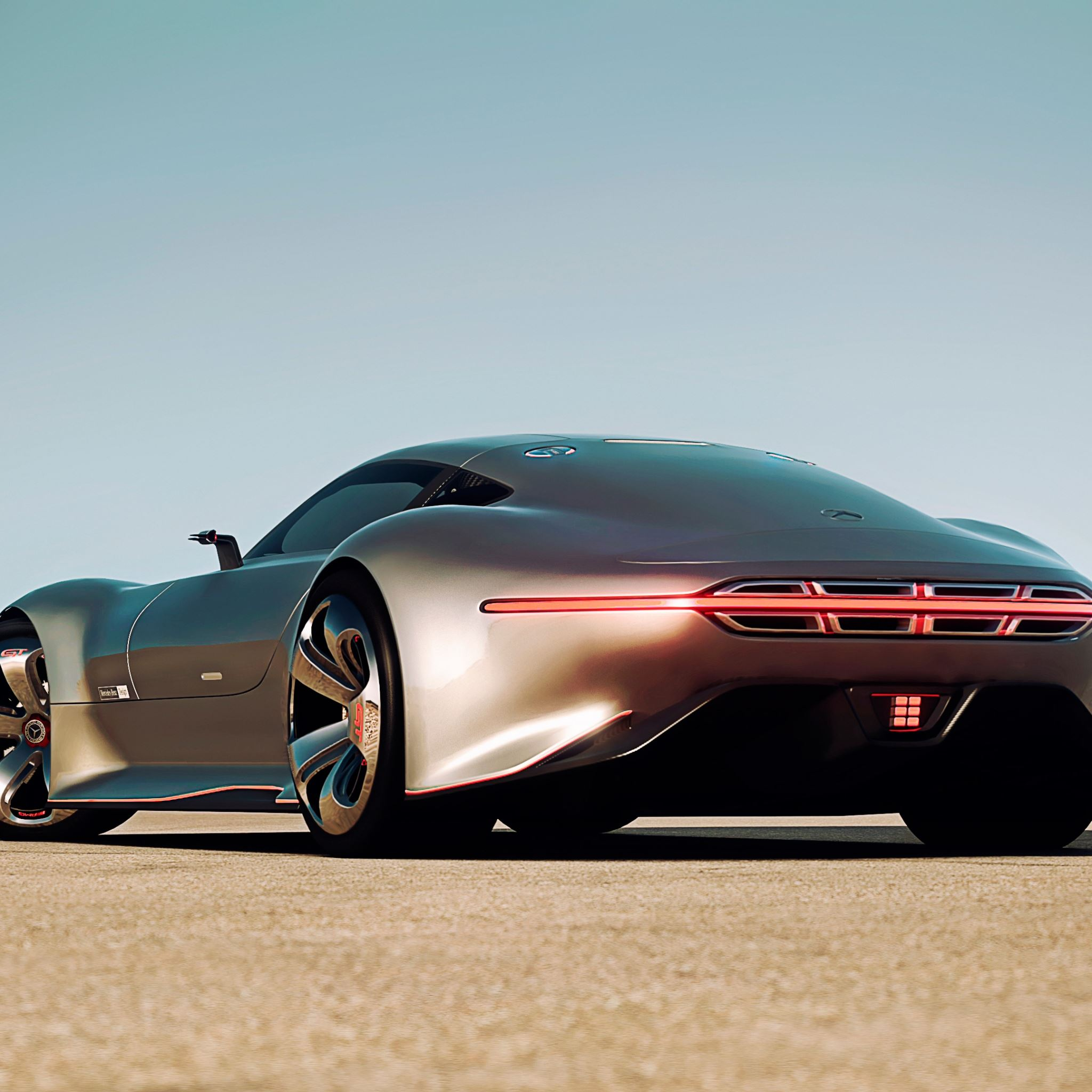 Mercedes Benz Amg Vision Gran Turismo Silver Stunner IPad