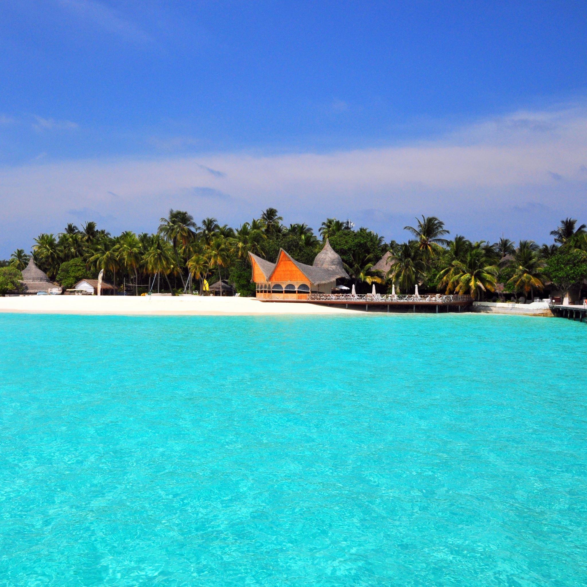 Island Beach Wallpaper: Maldives Tropical Beach Island IPad Air Wallpapers Free