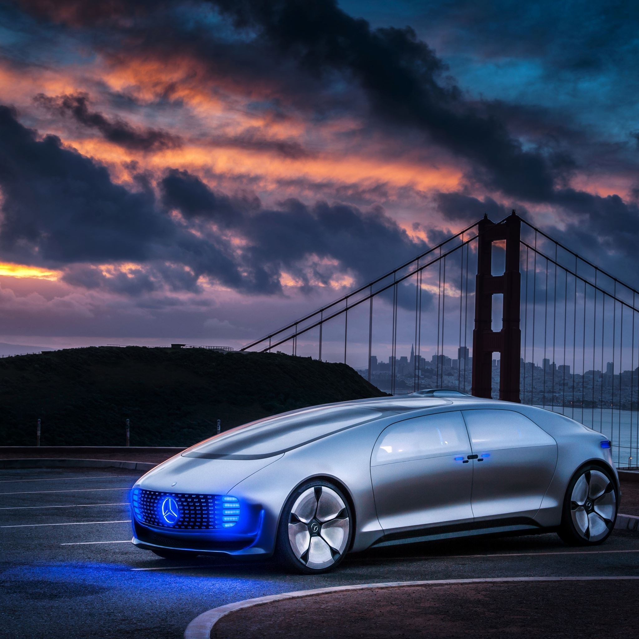 Mercedes Benz F015 Side View Ipad Pro Wallpapers