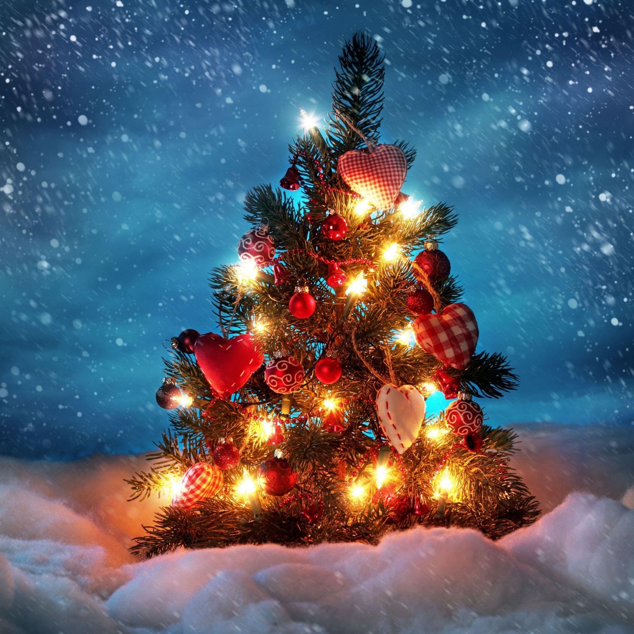Christmas tree iPad Air wallpaper