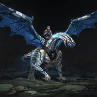 Dragon rider wings iPad Air wallpaper