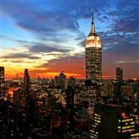 New York empire state building manhattan iPad wallpaper