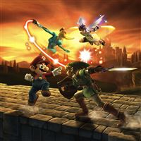 Mario 3D Fighting iPad wallpaper