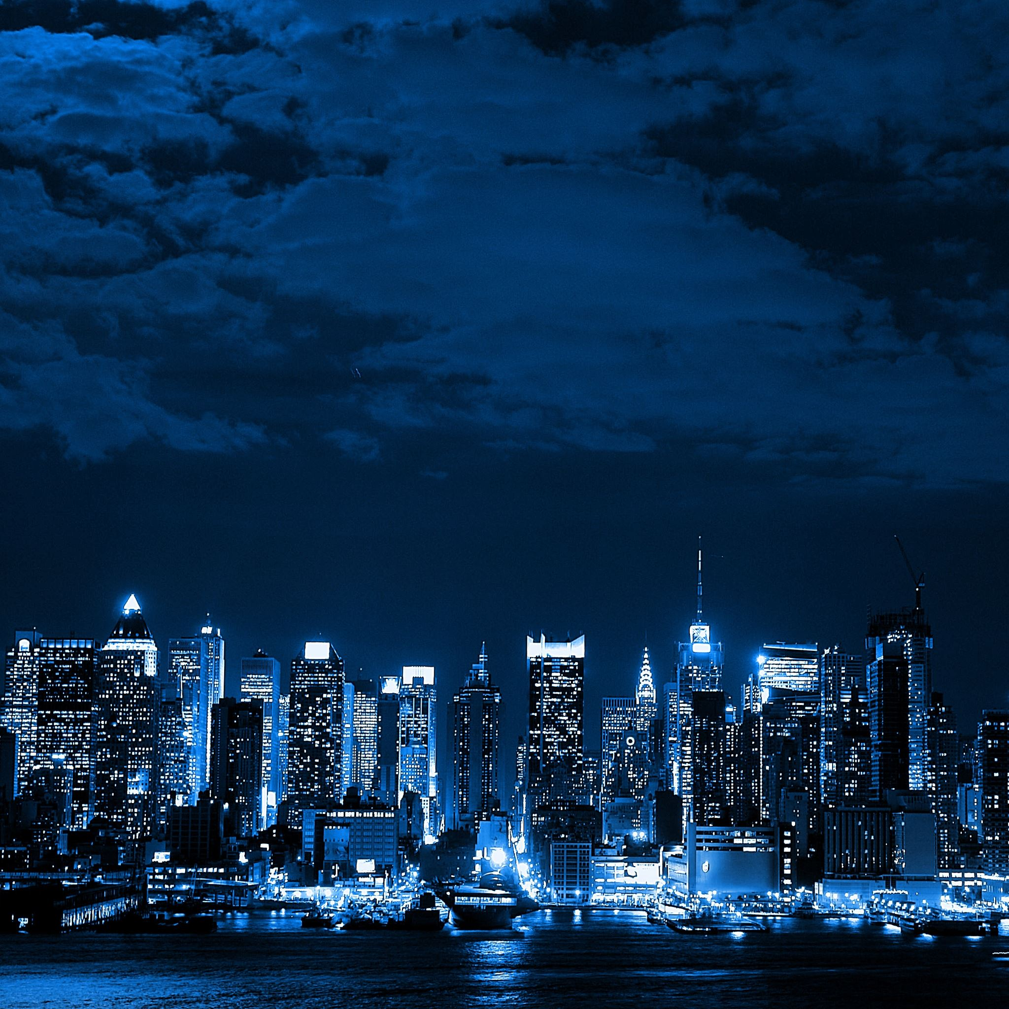 Blue City iPad Air wallpaper