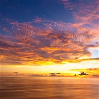Bali Sunset iPad Air wallpaper