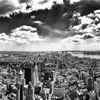 New York City Black and White iPad Air wallpaper
