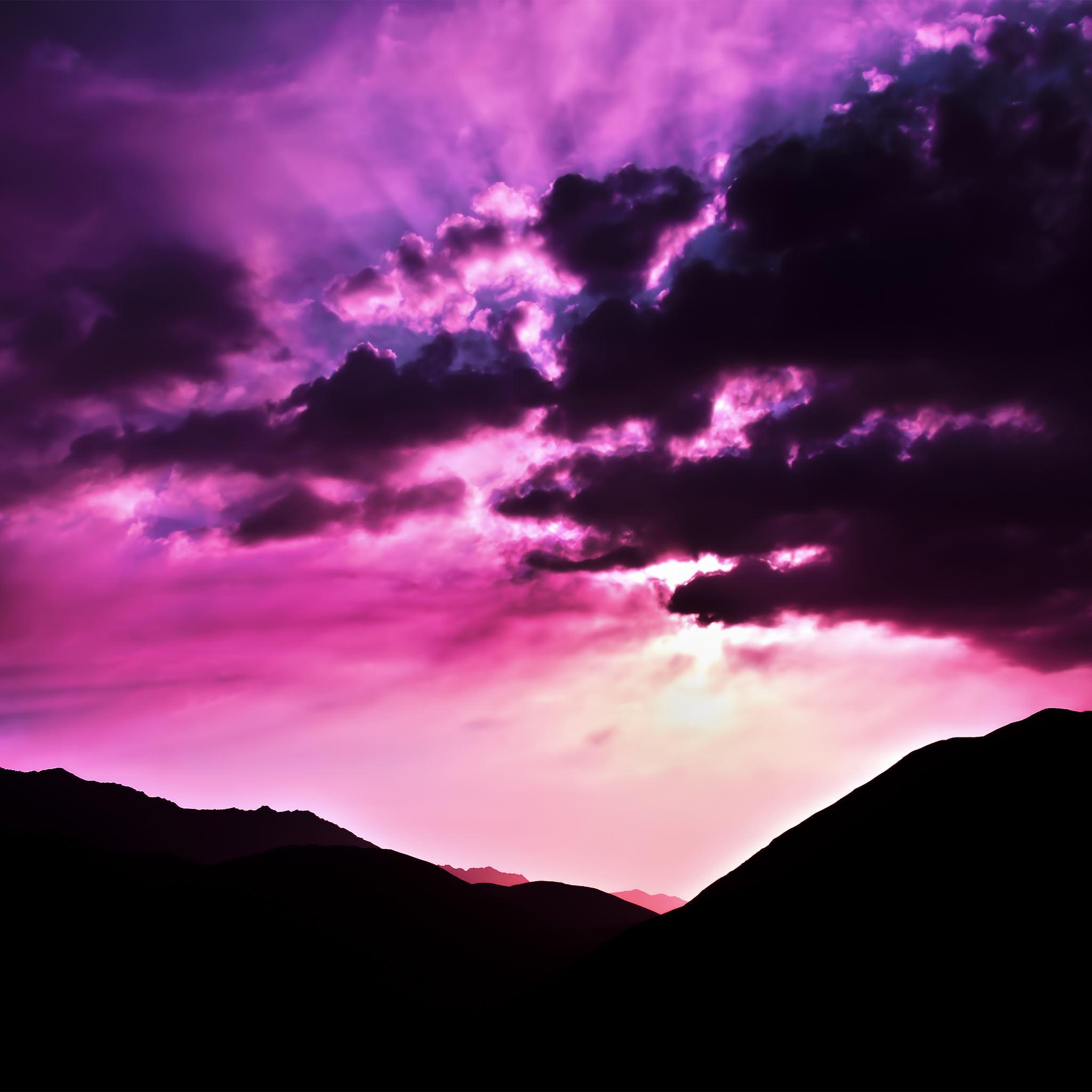 Wallpaper Iphone Violet: Purple Morning IPad Air Wallpaper Download