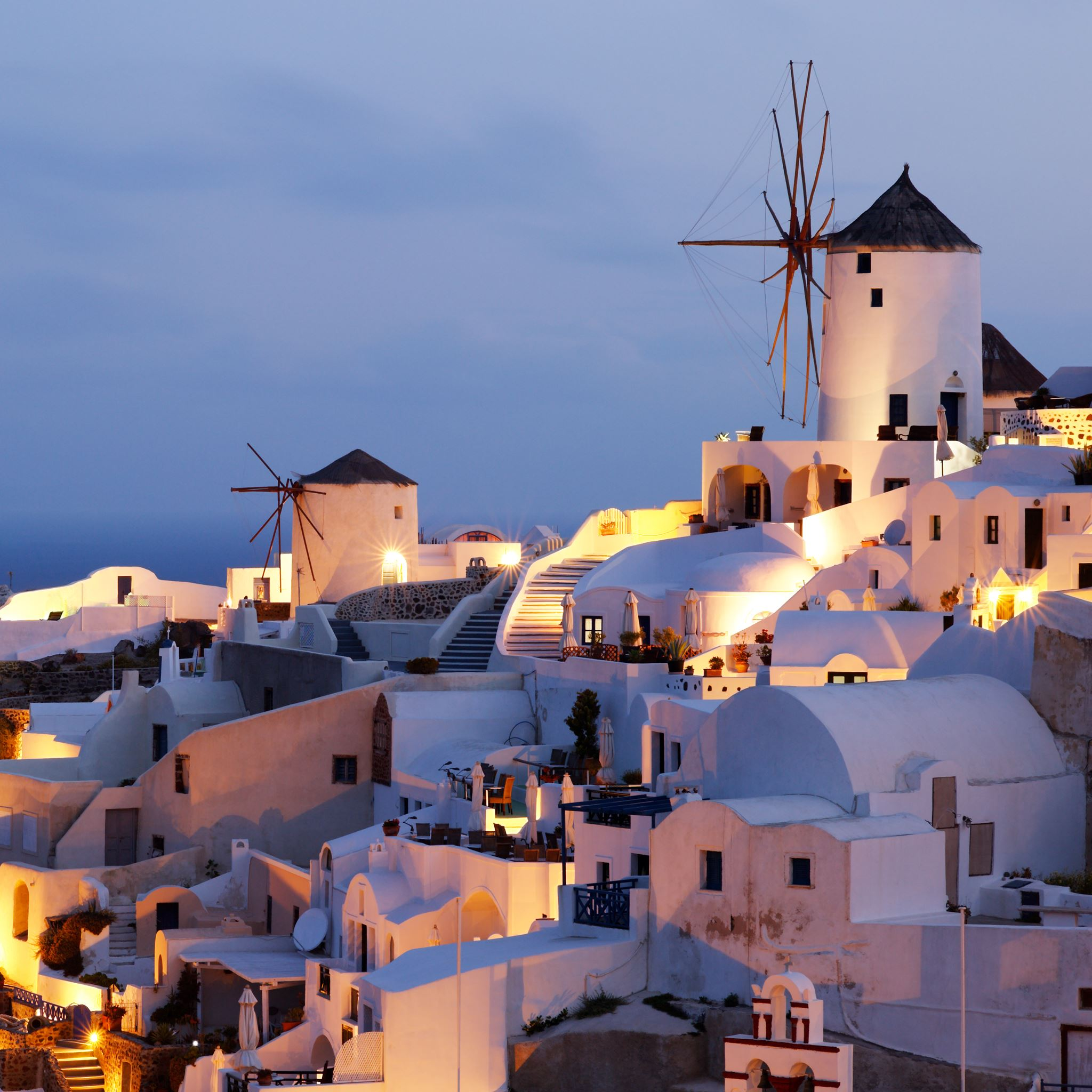 Early Morning in Oia iPad Air wallpaper