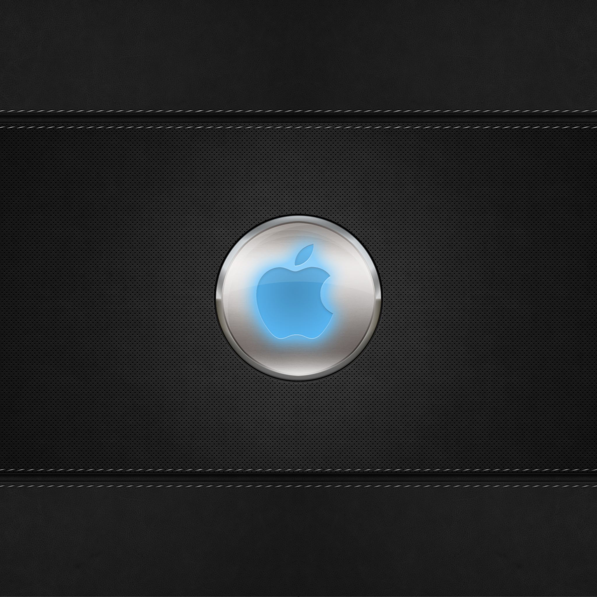 Blue Glow Apple Logo iPad Air wallpaper