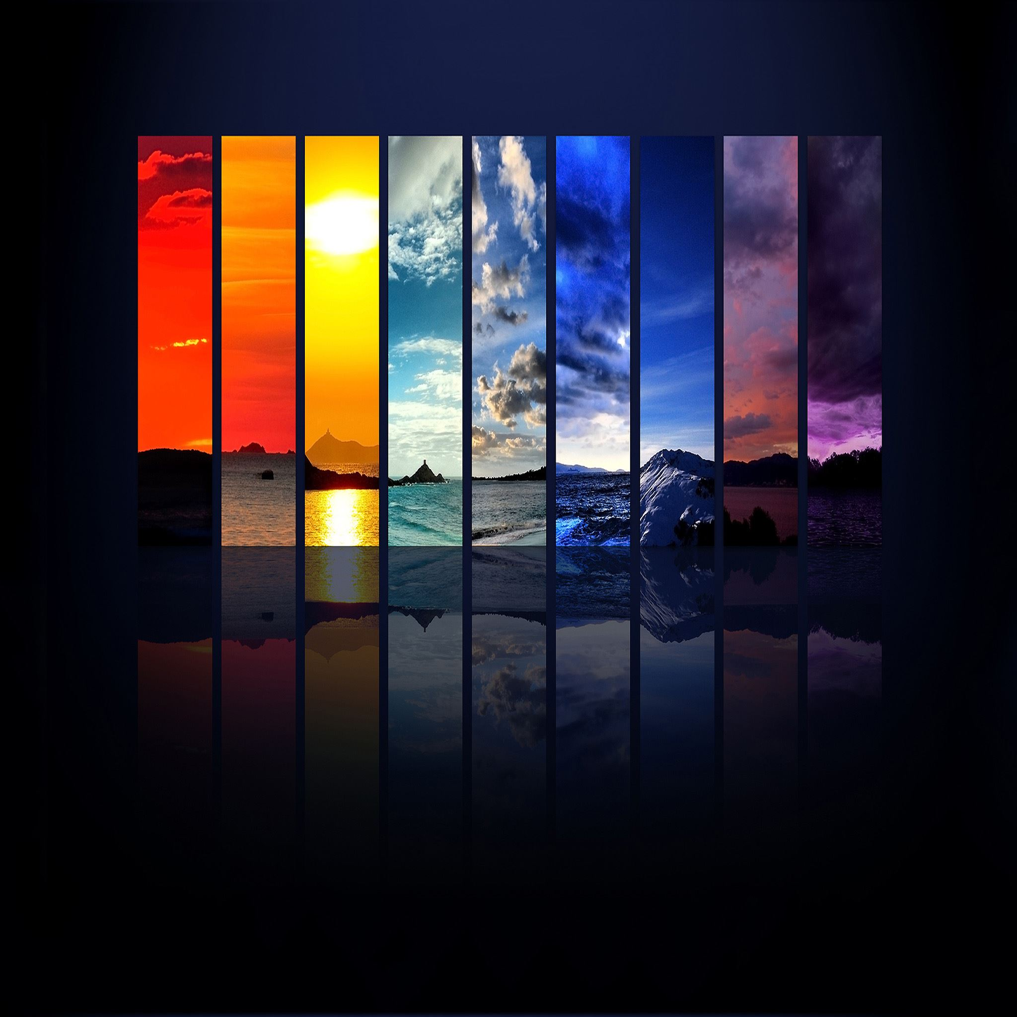 Rainbow Scenery iPad Air wallpaper