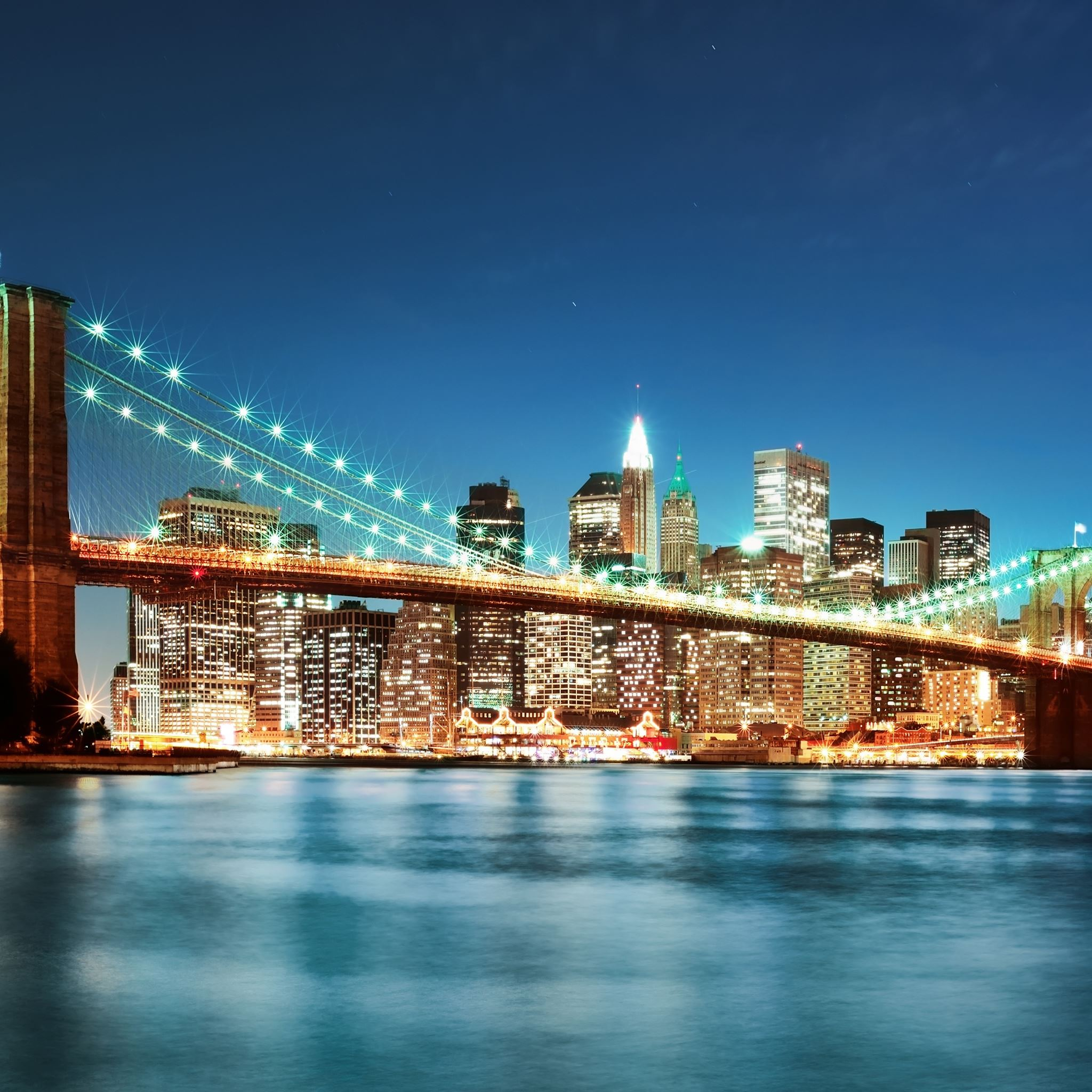 New York City Night Lights iPad Air wallpaper