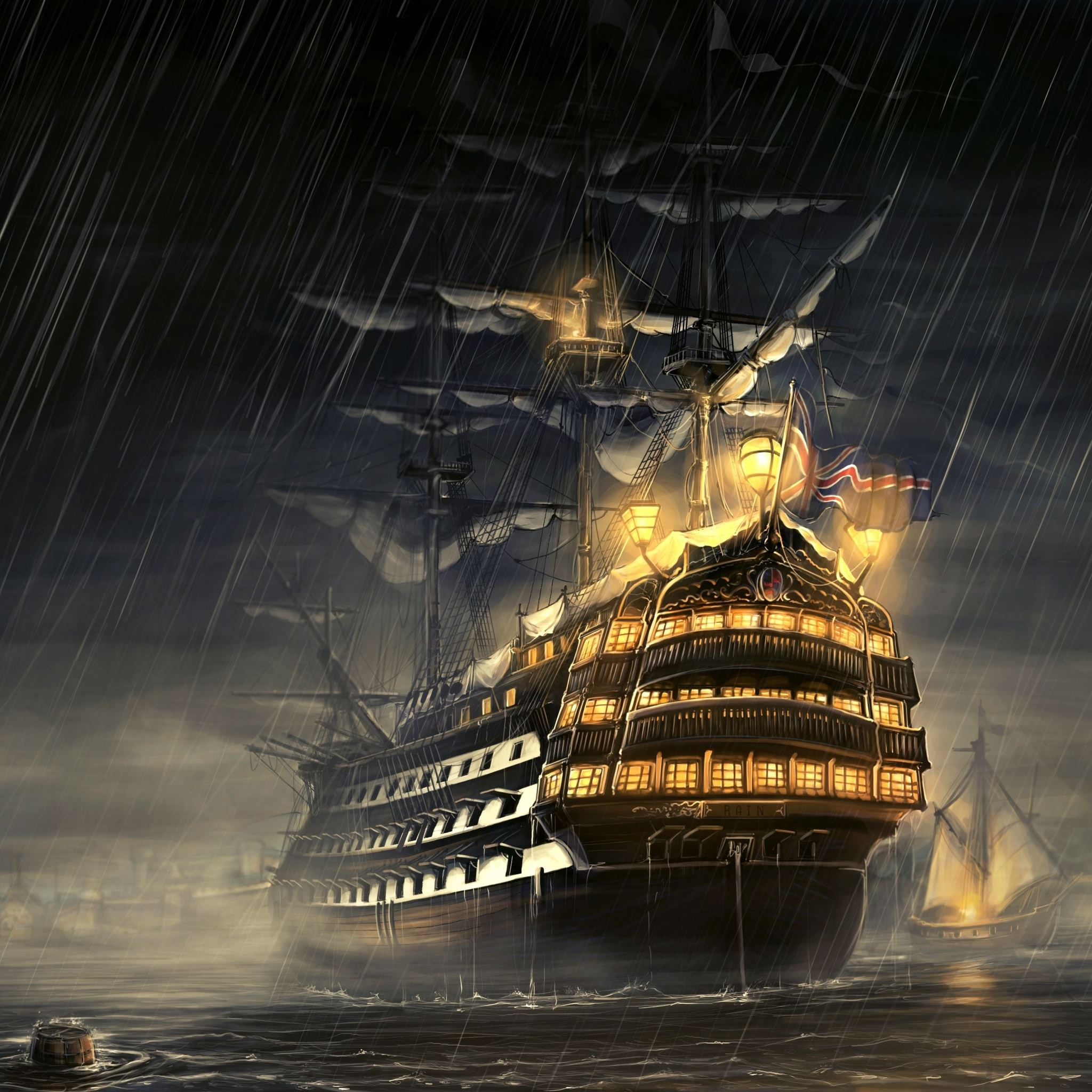 Pirate Ship iPad Air wallpaper