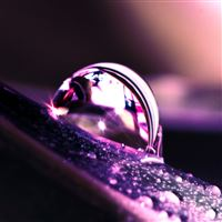 Water Drop Reflection iPad wallpaper