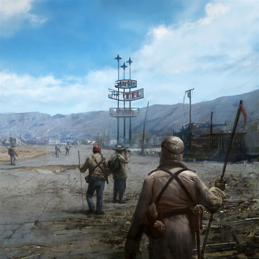 Fallout New Vegas Concept Art Ipad Air Wallpapers Free Download
